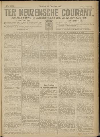 Ter Neuzensche Courant. Algemeen Nieuws- en Advertentieblad voor Zeeuwsch-Vlaanderen / Neuzensche Courant ... (idem) / (Algemeen) nieuws en advertentieblad voor Zeeuwsch-Vlaanderen 1914-10-13