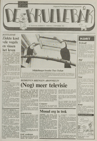 Provinciale Zeeuwse Courant katern Krullenbak (1981-1999) 1983-09-13