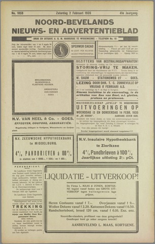 Noord-Bevelands Nieuws- en advertentieblad 1935-02-01