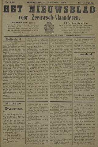 Nieuwsblad voor Zeeuwsch-Vlaanderen 1900-10-03