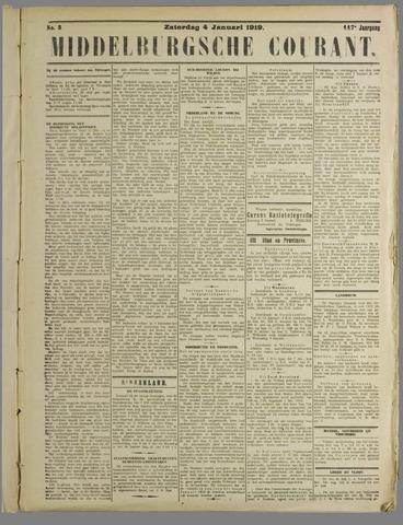 Middelburgsche Courant 1919-01-04