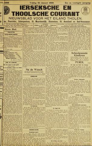 Ierseksche en Thoolsche Courant 1929-01-25