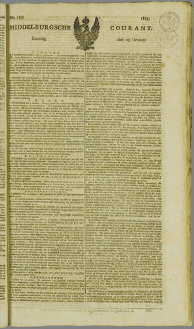 Middelburgsche Courant 1817-10-25