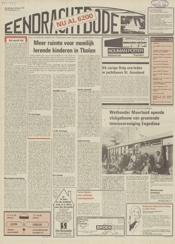 Eendrachtbode (1945-heden)/Mededeelingenblad voor het eiland Tholen (1944/45) 1979-10-04