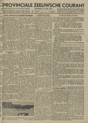 Provinciale Zeeuwse Courant 1943-05-31