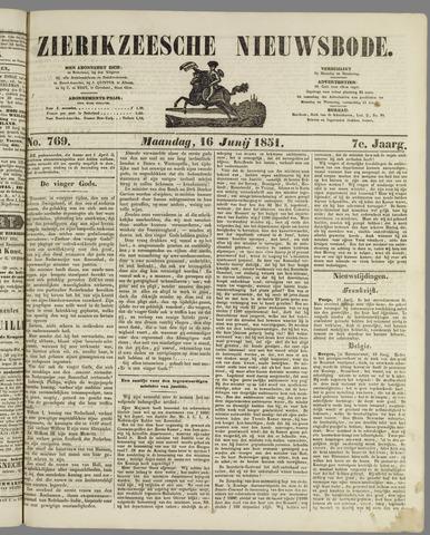 Zierikzeesche Nieuwsbode 1851-06-16