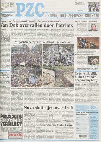 Provinciale Zeeuwse Courant 2003-02-17