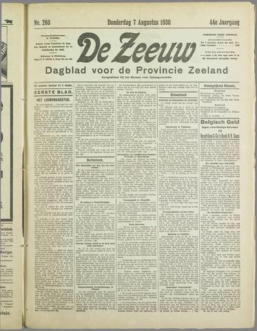 De Zeeuw. Christelijk-historisch nieuwsblad voor Zeeland 1930-08-07