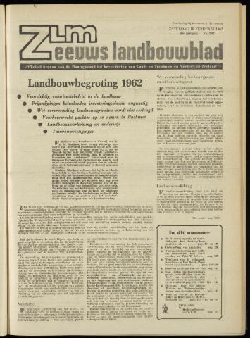 Zeeuwsch landbouwblad ... ZLM land- en tuinbouwblad 1962-02-09