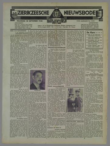 Zierikzeesche Nieuwsbode 1940-09-30