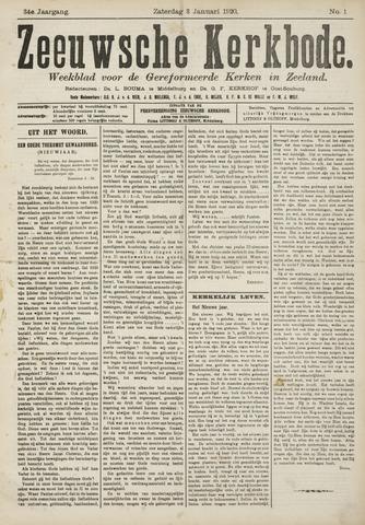 Zeeuwsche kerkbode, weekblad gewijd aan de belangen der gereformeerde kerken/ Zeeuwsch kerkblad 1920-01-03