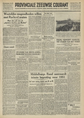 Provinciale Zeeuwse Courant 1950-12-23