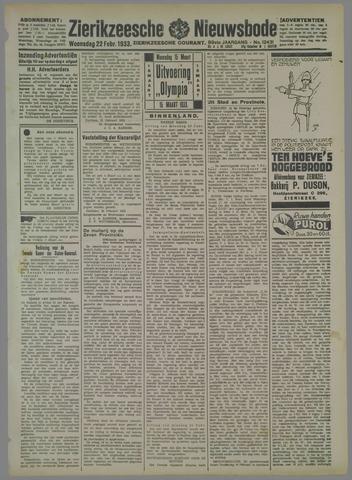 Zierikzeesche Nieuwsbode 1933-02-22