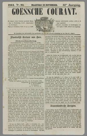 Goessche Courant 1864-11-28