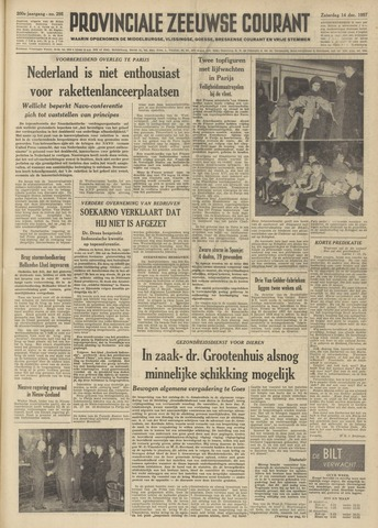 Provinciale Zeeuwse Courant 1957-12-14