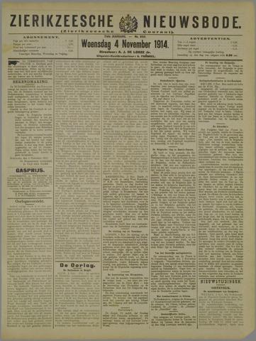 Zierikzeesche Nieuwsbode 1914-11-04