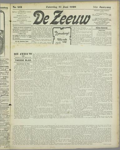 De Zeeuw. Christelijk-historisch nieuwsblad voor Zeeland 1920-06-12