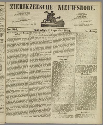 Zierikzeesche Nieuwsbode 1852-08-09