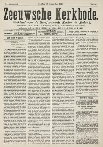 Zeeuwsche kerkbode, weekblad gewijd aan de belangen der gereformeerde kerken/ Zeeuwsch kerkblad 1920-08-13