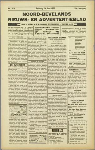 Noord-Bevelands Nieuws- en advertentieblad 1933-06-24