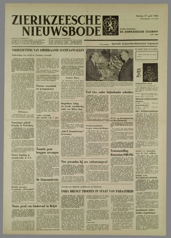 Zierikzeesche Nieuwsbode 1965-04-27