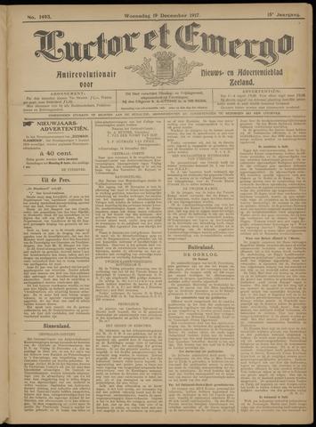 Luctor et Emergo. Antirevolutionair nieuws- en advertentieblad voor Zeeland / Zeeuwsch-Vlaanderen. Orgaan ter verspreiding van de christelijke beginselen in Zeeuwsch-Vlaanderen 1917-12-19