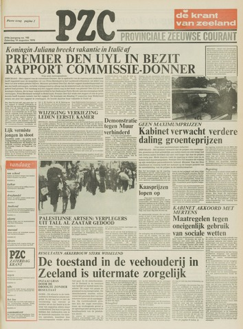 Provinciale Zeeuwse Courant 1976-08-14