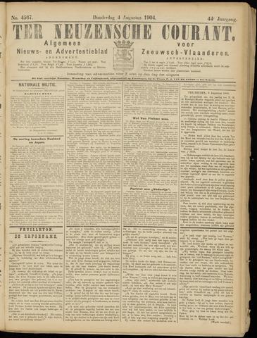 Ter Neuzensche Courant. Algemeen Nieuws- en Advertentieblad voor Zeeuwsch-Vlaanderen / Neuzensche Courant ... (idem) / (Algemeen) nieuws en advertentieblad voor Zeeuwsch-Vlaanderen 1904-08-04