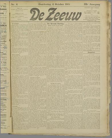 De Zeeuw. Christelijk-historisch nieuwsblad voor Zeeland 1917-10-04