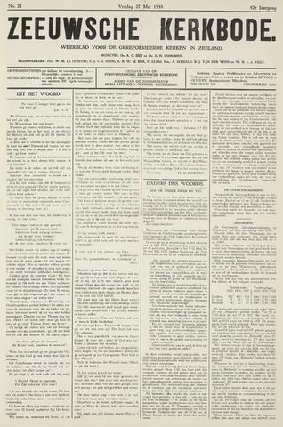 Zeeuwsche kerkbode, weekblad gewijd aan de belangen der gereformeerde kerken/ Zeeuwsch kerkblad 1938-05-27