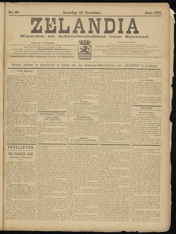 Zelandia. Nieuws-en advertentieblad voor Zeeland | edities: Het Land van Hulst en De Vier Ambachten 1902-11-22