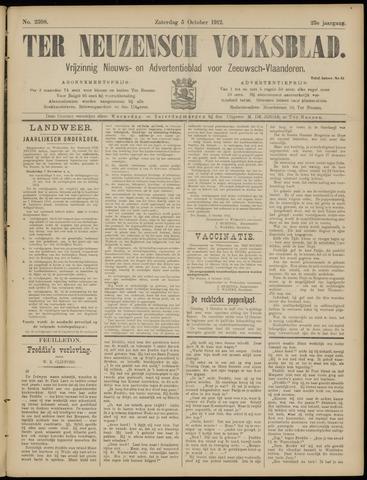 Ter Neuzensch Volksblad. Vrijzinnig nieuws- en advertentieblad voor Zeeuwsch- Vlaanderen / Zeeuwsch Nieuwsblad. Nieuws- en advertentieblad voor Zeeland 1912-10-05