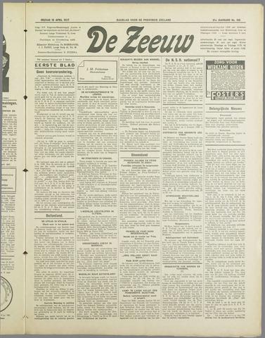 De Zeeuw. Christelijk-historisch nieuwsblad voor Zeeland 1937-04-16
