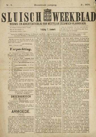 Sluisch Weekblad. Nieuws- en advertentieblad voor Westelijk Zeeuwsch-Vlaanderen 1876