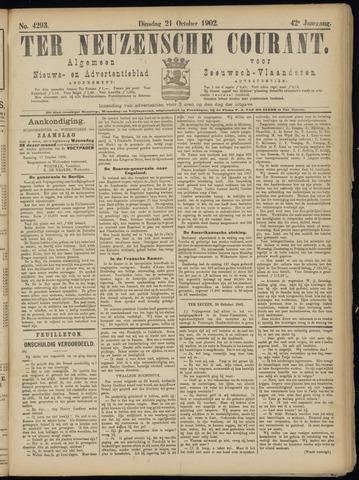 Ter Neuzensche Courant. Algemeen Nieuws- en Advertentieblad voor Zeeuwsch-Vlaanderen / Neuzensche Courant ... (idem) / (Algemeen) nieuws en advertentieblad voor Zeeuwsch-Vlaanderen 1902-10-21