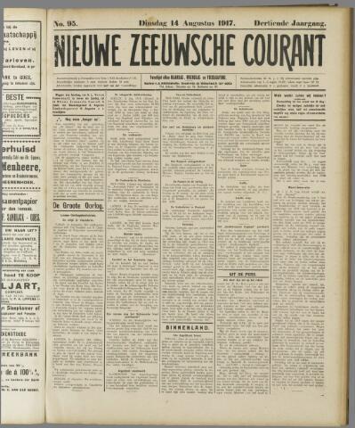 Nieuwe Zeeuwsche Courant 1917-08-14