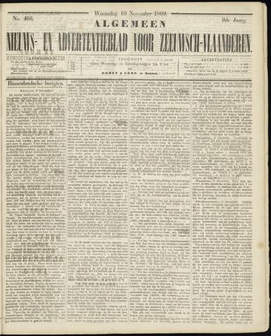 Ter Neuzensche Courant. Algemeen Nieuws- en Advertentieblad voor Zeeuwsch-Vlaanderen / Neuzensche Courant ... (idem) / (Algemeen) nieuws en advertentieblad voor Zeeuwsch-Vlaanderen 1869-11-10