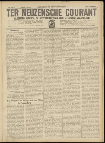 Ter Neuzensche Courant. Algemeen Nieuws- en Advertentieblad voor Zeeuwsch-Vlaanderen / Neuzensche Courant ... (idem) / (Algemeen) nieuws en advertentieblad voor Zeeuwsch-Vlaanderen 1938-09-14