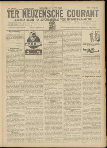 Ter Neuzensche Courant. Algemeen Nieuws- en Advertentieblad voor Zeeuwsch-Vlaanderen / Neuzensche Courant ... (idem) / (Algemeen) nieuws en advertentieblad voor Zeeuwsch-Vlaanderen 1937-04-07