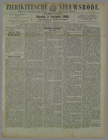 Zierikzeesche Nieuwsbode 1903-09-05