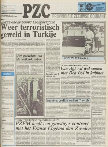 Provinciale Zeeuwse Courant 1980-09-15