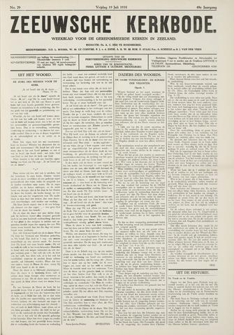 Zeeuwsche kerkbode, weekblad gewijd aan de belangen der gereformeerde kerken/ Zeeuwsch kerkblad 1935-07-19