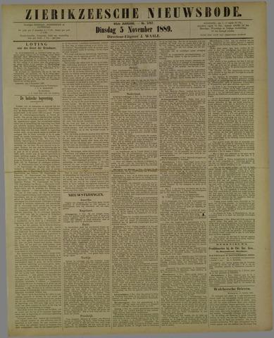 Zierikzeesche Nieuwsbode 1889-11-05