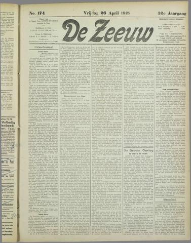 De Zeeuw. Christelijk-historisch nieuwsblad voor Zeeland 1918-04-26