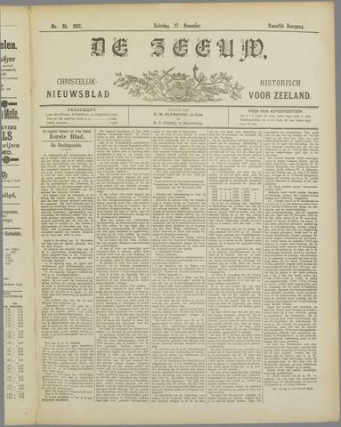 De Zeeuw. Christelijk-historisch nieuwsblad voor Zeeland 1897-11-27