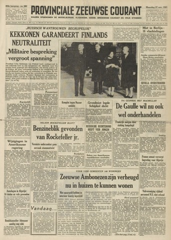 Provinciale Zeeuwse Courant 1961-11-27
