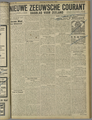 Nieuwe Zeeuwsche Courant 1920-11-06