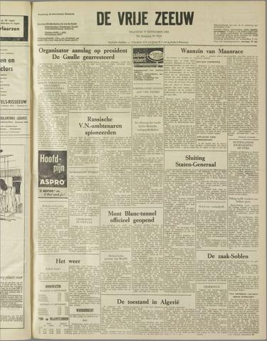 de Vrije Zeeuw 1962-09-17