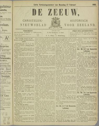 De Zeeuw. Christelijk-historisch nieuwsblad voor Zeeland 1888-02-27