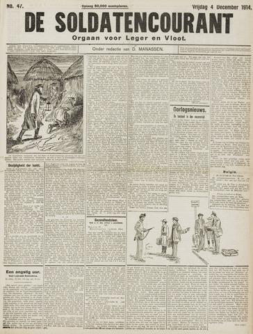 De Soldatencourant. Orgaan voor Leger en Vloot 1914-12-04